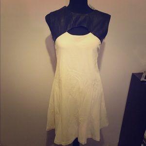 NWT cream w black pleather dress by Twenty Large